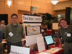 Tantek and Kevin represent Technorati at the 2004 Stanford Engineering Alumni Job Fair.